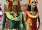 two catrina figurines