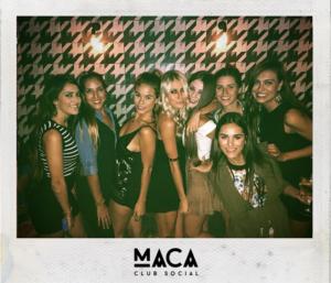 group of women at maca club social
