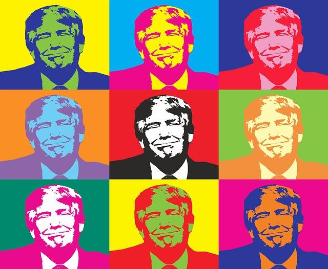 donald trump multicolor